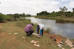 Sammeln am Luvhuvhu River